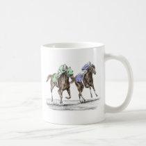 Thoroughbred Horses Racing Coffee Mug