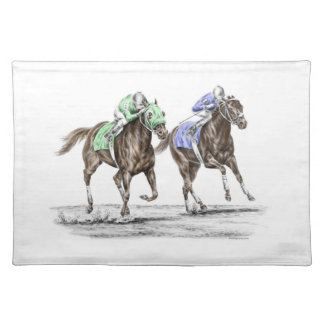 Thoroughbred Horses Racing Placemat
