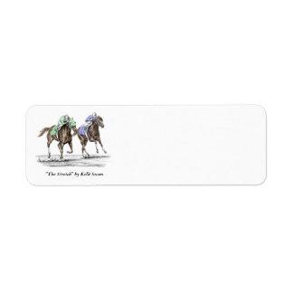 Thoroughbred Horses Racing Return Address Labels