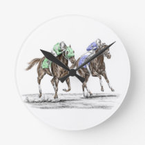 Thoroughbred Horses Racing Round Clock