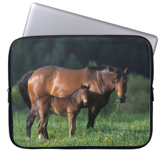 Thoroughbred Mare & Foal 1 Computer Sleeve