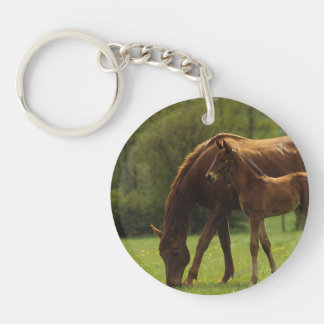 Thoroughbred Mare & Foal 2 Keychain
