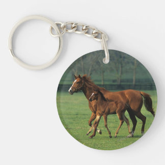 Thoroughbred Mare & Foal 3 Keychain