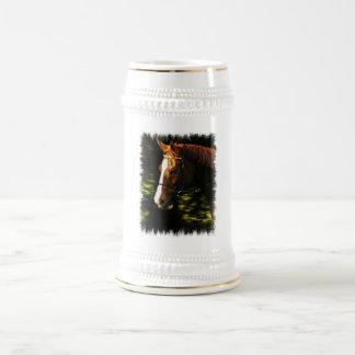 Thoroughbred Mount Beer Stein 18 Oz Beer Stein