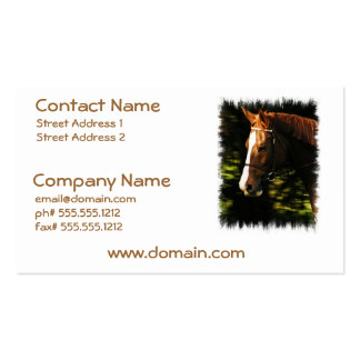 Thoroughbred Mount Business Card