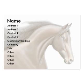 Thoroughbred Profile Card Large Business Cards (Pack Of 100)