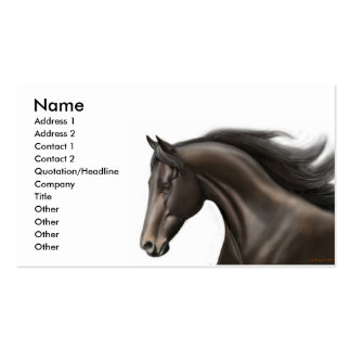 Thoroughbred Profile Card Double-Sided Standard Business Cards (Pack Of 100)