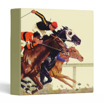 Thoroughbred Race 3 Ring Binder