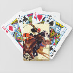 """Thoroughbred Race Bicycle Playing Cards<br><div class=""""desc"""">Artist: Maurice Bower   Horse race</div>"""
