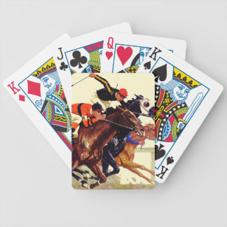Thoroughbred Race Bicycle Playing Cards