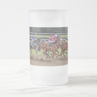Thoroughbred Race Frosted Stein Mug