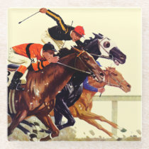 Thoroughbred Race Glass Coaster