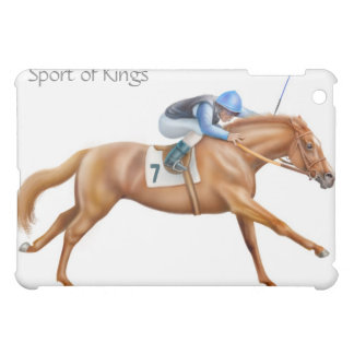 Thoroughbred Race Horse and Rider Customizable iPad Mini Covers