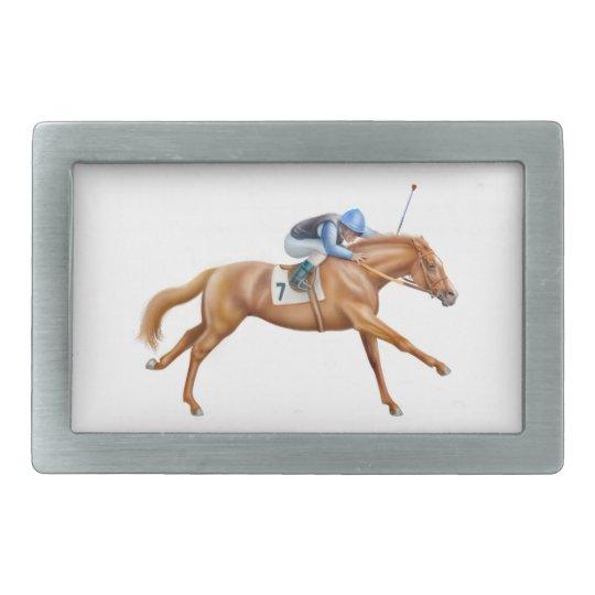 Thoroughbred Race Horse Belt Buckle