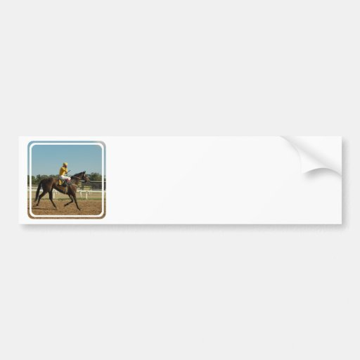 Thoroughbred Race Horse Bumper Stickers