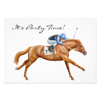 Thoroughbred Race Horse Invitation
