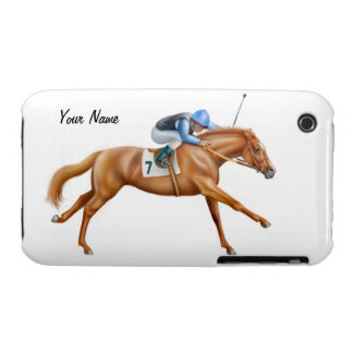 Thoroughbred Race Horse iPhone 3 Case-Mate Case
