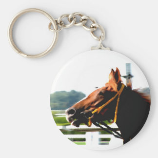 Thoroughbred race horse keychain