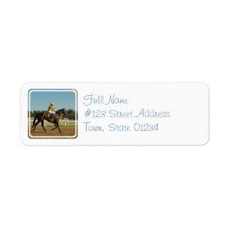 Thoroughbred Race Horse Mailing Label