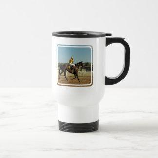 Thoroughbred Race Horse Plastic Travel Mug