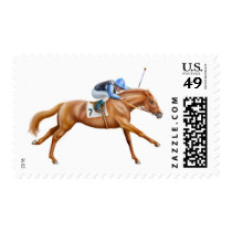 Thoroughbred Race Horse Postage