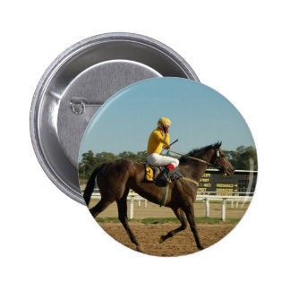 Thoroughbred Race Horse Round Button