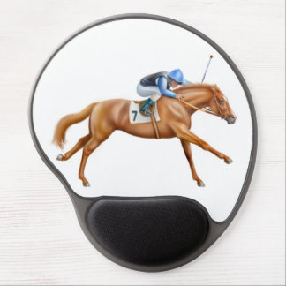 Thoroughbred Race Horse Running Gel Mousepad
