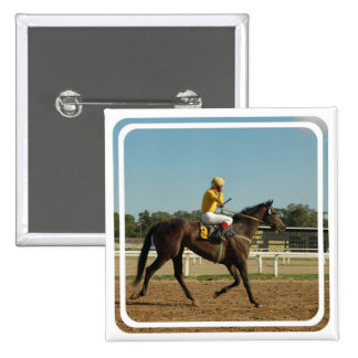 Thoroughbred Race Horse Square Pin