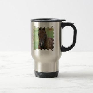 Thoroughbred Race Horse Stainless Travel Mug