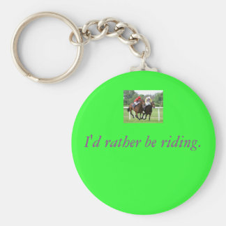 Thoroughbred race picture 2 from wikimedia, I'd... Keychain