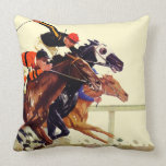 Thoroughbred Race Pillow