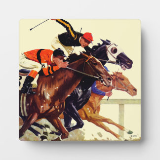 Thoroughbred Race Plaque
