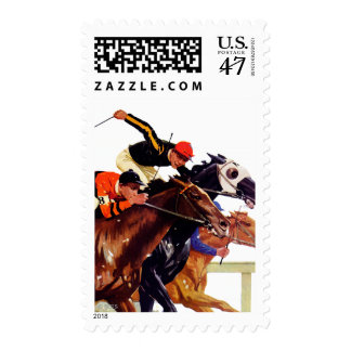 Thoroughbred Race Postage