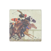 Thoroughbred Race Stone Magnet