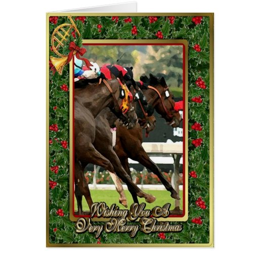 Thoroughbred Racehorse Blank Christmas Card