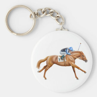 Thoroughbred Racehorse Keychain