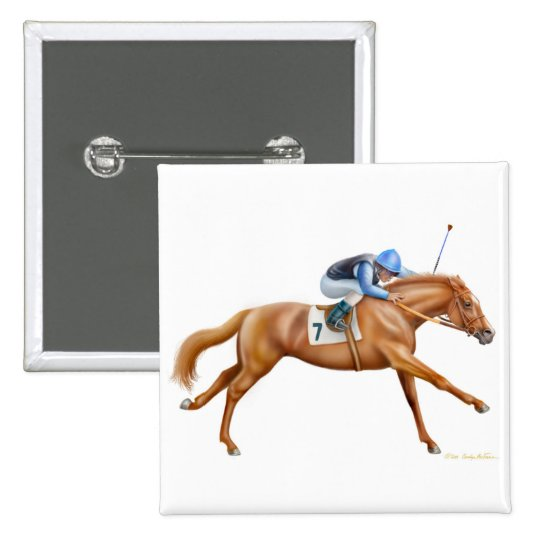Thoroughbred Racehorse Pin