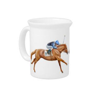 Thoroughbred Racehorse Pitcher