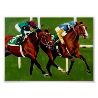 Thoroughbred Racehorse Portrait Poster