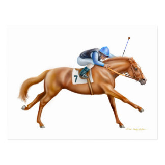 Thoroughbred Racehorse Postcard