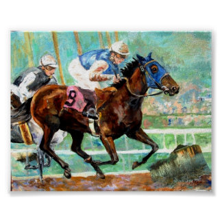 Thoroughbred Racehorse Poster Print