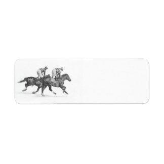 Thoroughbred Racehorse Return Address Labels