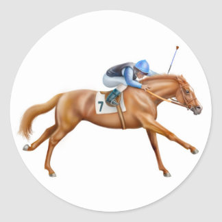 Thoroughbred Racehorse Sticker