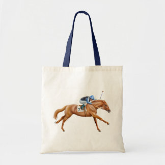 Thoroughbred Racehorse Tote Bag