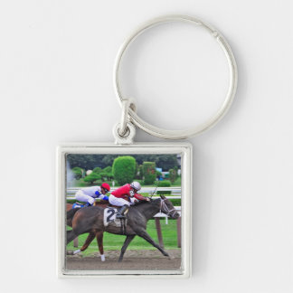Thoroughbred Racing at Historic Saratoga Racetrack Key Chains