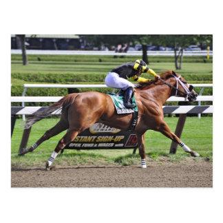Thoroughbred Racing at Historic Saratoga Racetrack Postcard