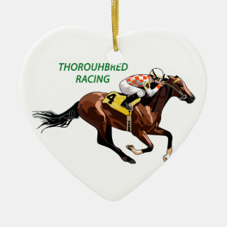 Thoroughbred Racing Ceramic Ornament