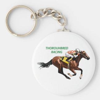 Thoroughbred Racing Keychain