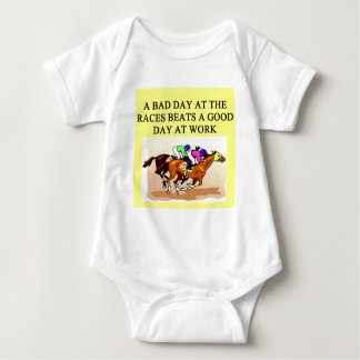 thoroughbred racing lovers baby bodysuit