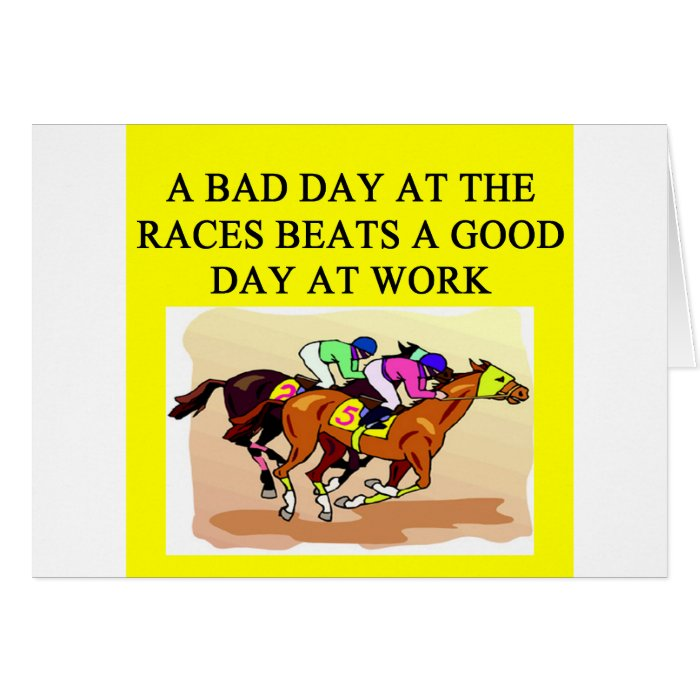 thoroughbred racing lovers card